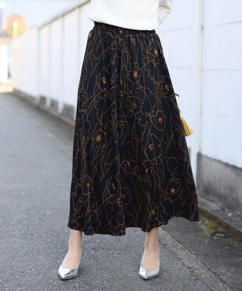 Bou Jeloud(ブージュルード)の「《再入荷》アートフラワーロングスカート(スカート)」 ブラック