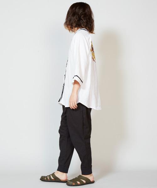 【チャイハネ】NEVER GIVE UP ベースボールシャツ(ユニセックス)