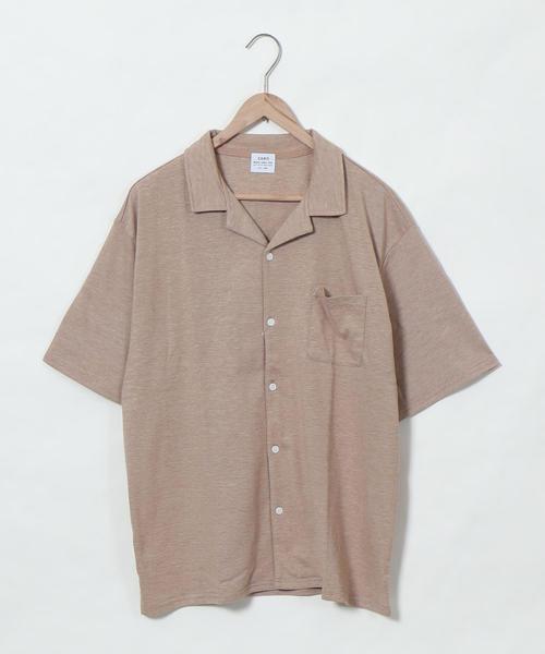 カットオープンカラーシャツ
