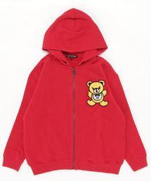 HYS BEAR刺繍 ビッグパーカー【L】レッド