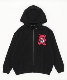 HYS BEAR刺繍 ビッグパーカー【L】ブラック