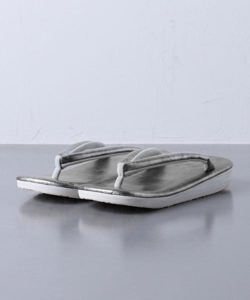 ▲<Calen Blosso(カレンブロッソ)> メンズ草履 本革