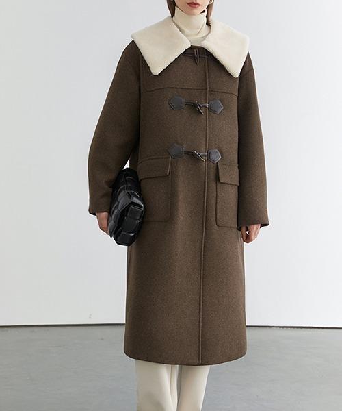 【Fano Studios】【2021AW】Collar boa duffle coat FD20W196