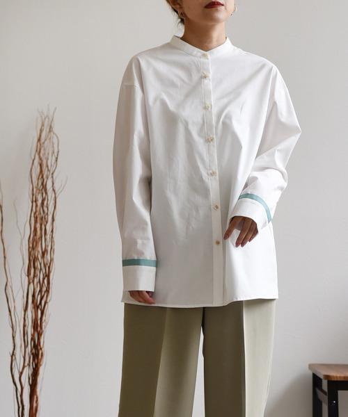 グログランテープデザインシャツ