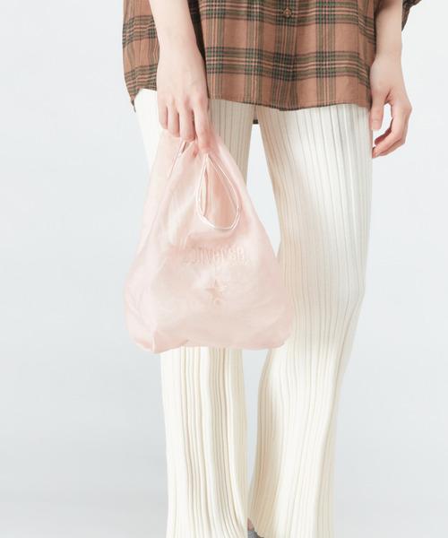 CONVERSE TOKYO(コンバーストウキョウ)の「シアーロゴ刺繍コンビニバッグ(トートバッグ)」|ピンク
