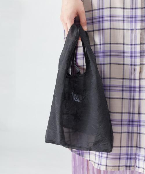 CONVERSE TOKYO(コンバーストウキョウ)の「シアーロゴ刺繍コンビニバッグ(トートバッグ)」|ブラック