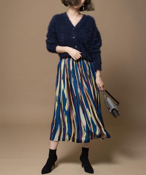 &. NOSTALGIA(アンドドットノスタルジア)の「ギャザーマキシスカート(スカート)」|ブルー