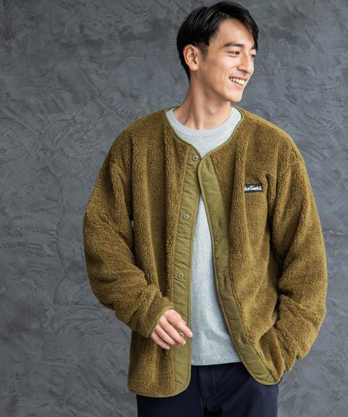 [ワイルドシングス] SC★ WILD THINGS パイルフリース ノーカラー ジャケット