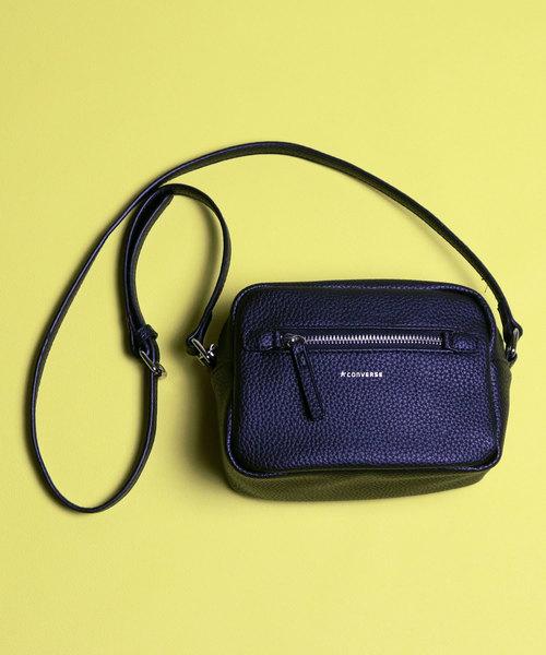 4bb9280e43c2 CONVERSE(コンバース)の CONVERSE コンバース PU Shoulder Bag フェイクレザー