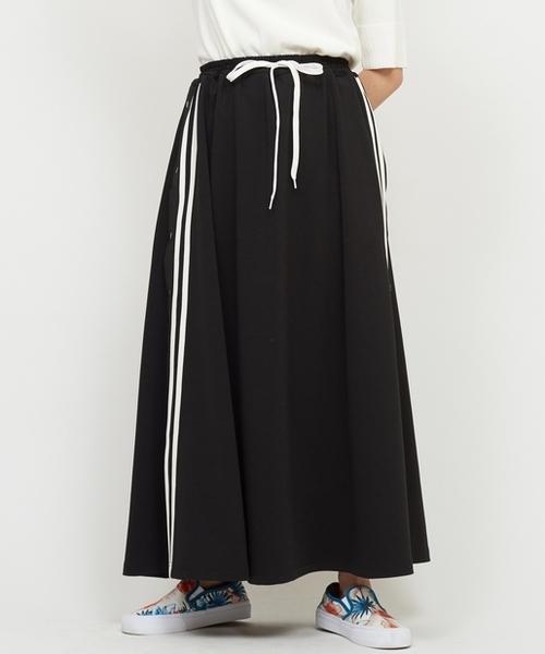 CIAOPANIC(チャオパニック)の「サイドラインスカート(スカート)」 ブラック