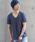 TORNADO MART(トルネードマート)の「【ドラマ着用商品】TORNADO MART∴バックインレイ半袖カットソー(Tシャツ/カットソー)」|ブルー
