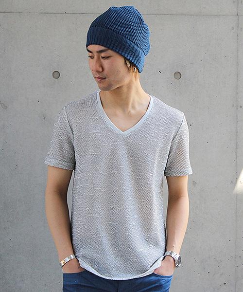 TORNADO MART(トルネードマート)の「【ドラマ着用商品】TORNADO MART∴バックインレイ半袖カットソー(Tシャツ/カットソー)」|ライトグレー