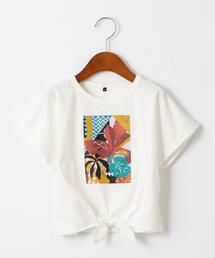 アフリカプリントスソシバリTシャツ