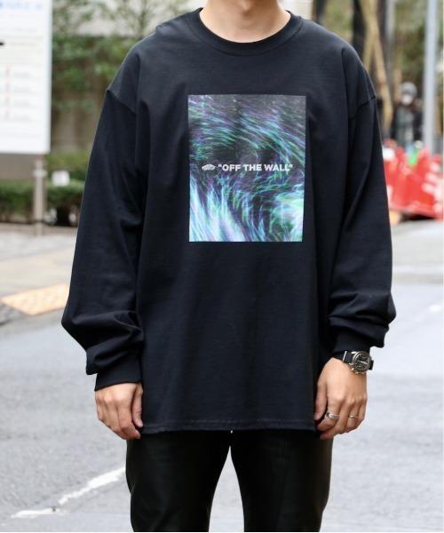 VANS(バンズ)の「VANS / ヴァンズ MOVING RAY OTW L/S T-SHIRT(Tシャツ/カットソー)」 ブラック
