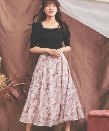 Noela(ノエラ)の「楊柳刺繍スカート(スカート)」