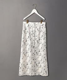 <6(ROKU)>LINE PRINT SKIRT/スカート
