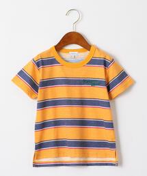 スラブボーダープリントTシャツ