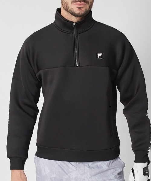 【FILA:フィラゴルフ】ロゴテープハーフジップスウェット / ユニセックス  ゴルフウェア