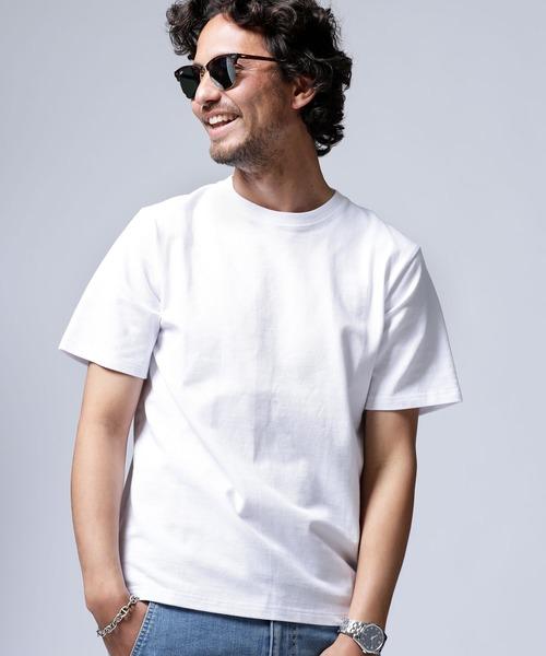 nano・universe(ナノユニバース)の「快適男 カノコクルーネックTシャツ(一部WEB限定カラー)(Tシャツ/カットソー)」|ホワイト