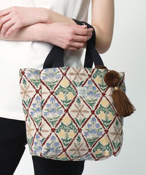 【 Craft India BY PEAPOD / バイピーポッド 】ジャガードハンドバッグ