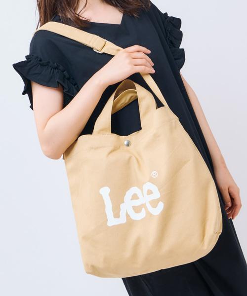 Lee(リー)の「【Lee】2WAYキャンバストート(ショルダーバッグ)」|ベージュ