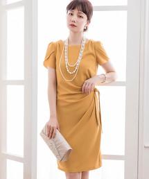 d5d99b6ad6068 DRESS STAR(ドレス スター)の「ペタル(チューリップ)スリーブサイドリボンドレーブ