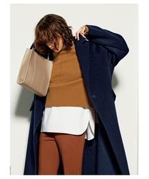 Mila Owen(ミラオーウェン)のシャツドッキングデザインニット(ニット/セーター)