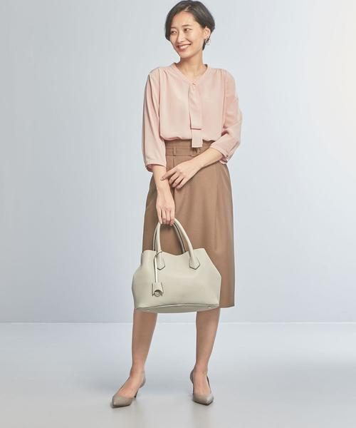 [green label relaxing] 【WORK TRIP OUTFITS】★WTO CS フロントタイ ブラウス