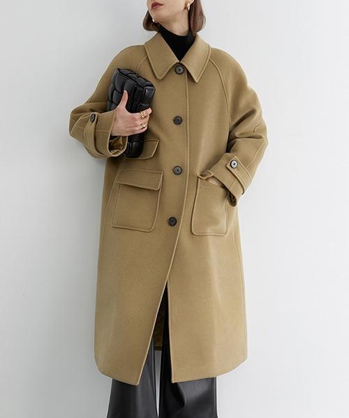 【Fano Studios】【2021AW】Oversized batting bal collar coat FD20W220