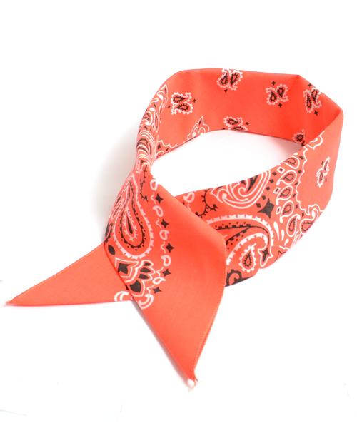 ROOPTOKYO(ループトウキョウ)の「HAV-A-HANK/ハブアハンク ペイズリー柄バンダナ(バンダナ/スカーフ)」|オレンジ