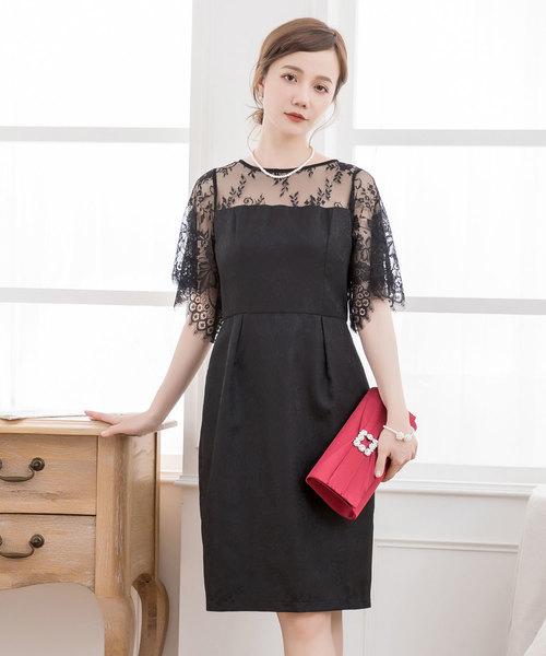 0898441a27bfd DRESS STAR(ドレス スター)のデコルテレースドッキングパーティードレス(ドレス)