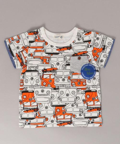 総柄Tシャツ 車