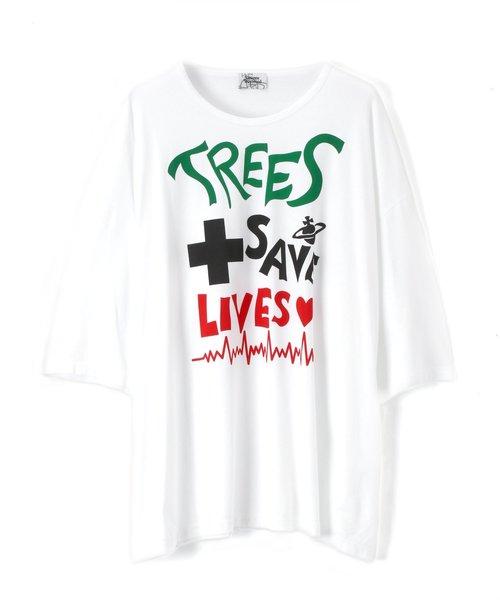 """超美品 """"TREES SAVE LIVES"""" BIG T-SHIRT【299012 5114】, マルキe-shop d071c3f6"""