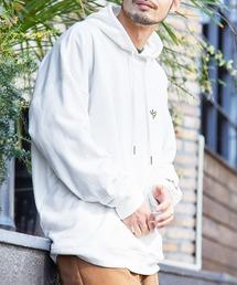 Mark Gonzales/マークゴンザレス MONO-MART別注ロゴ刺繍 オーバーサイズ プルオーバーパーカーオフホワイト