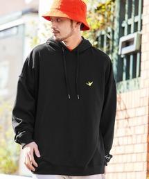 Mark Gonzales/マークゴンザレス MONO-MART別注ロゴ刺繍 オーバーサイズ プルオーバーパーカーブラック