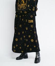 HYS LOGO GOTHIC柄刺繍 スカートブラック