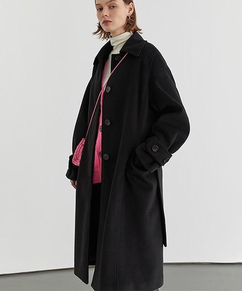【Fano Studios】Oversized wool-like bal collar coat FD20W078