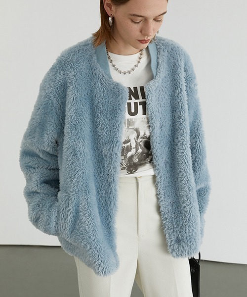 【Fano Studios】【2021AW】Collar less far blouson FD20W224