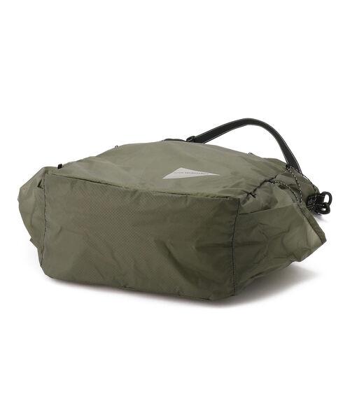and wander(アンドワンダー)の「andwander/アンドワンダー sil tote bag シルトートバッグ(トートバッグ)」 詳細画像