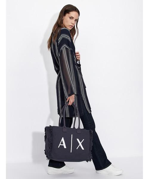 【A|Xアルマーニ エクスチェンジ】A|Xロゴ キャンバストートバッグ