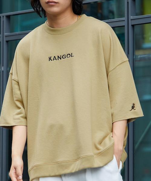 ▽WEB限定 MONO-MART×KANGOL カンゴール ビッグシルエット プルオーバー サマースウェット(1/2 sleeve)