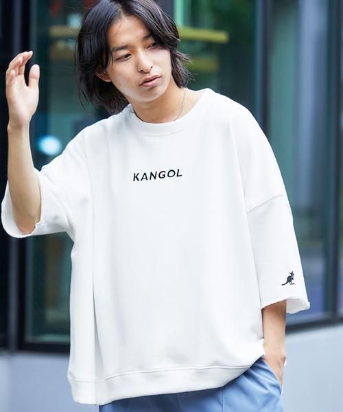 ▽WEB限定 MONO-MART×KANGOL カンゴール ビッグシルエット プルオーバー (1/2 sleeve)