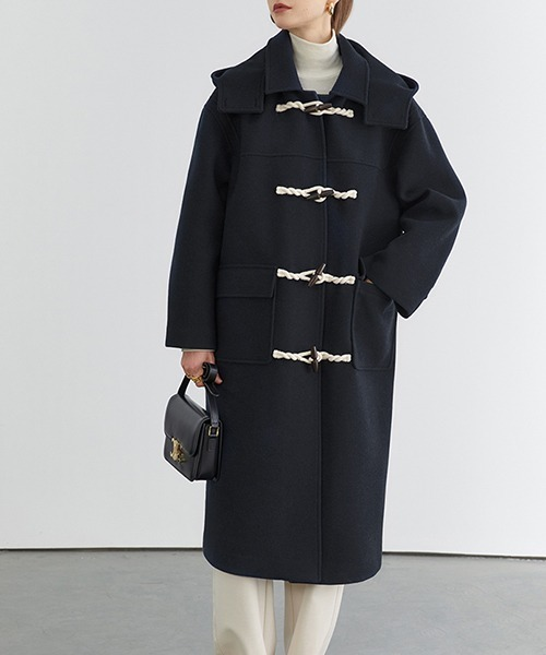 【Fano Studios】【2021AW】Big hooded batting duffle coat FD20W232