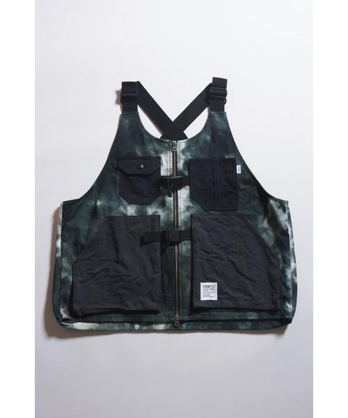 FDMTL/ファンダメンタル/タイダイ柄ユーティリティーベスト/TIEDYE Utility Vest