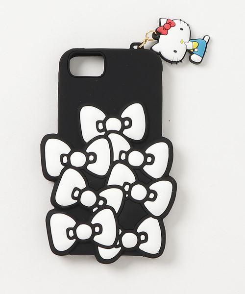 sanrio(サンリオ)の「sanrio(サンリオ)リボンiPhoneケース(モバイルケース/カバー)」 ブラック