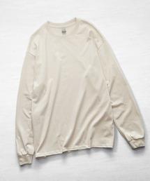 ギルダン ビッグシルエット USA ロングスリーブ Tシャツ カットソーナチュラル
