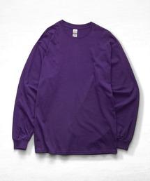 ギルダン ビッグシルエット USA ロングスリーブ Tシャツ カットソー 無地T トップス Tシャツパープル