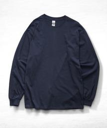 ギルダン ビッグシルエット USA ロングスリーブ Tシャツ カットソー 無地T トップス Tシャツネイビー