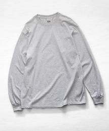 ギルダン ビッグシルエット USA ロングスリーブ Tシャツ カットソー 無地T トップス Tシャツグレー
