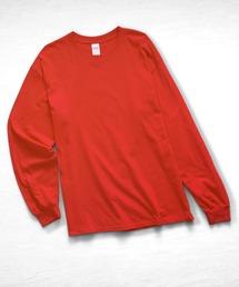 ギルダン ビッグシルエット USA ロングスリーブ Tシャツ カットソー 無地T トップス Tシャツレッド